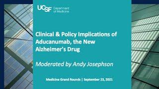 Implications of Aducanumab, the New Alzheimer's Drug with Gil Rabinovici and Rita Redberg