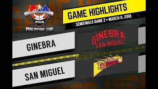 PBA Philippine Cup 2018 Highlights: Ginebra vs San Miguel Mar. 11, 2018