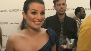 Lea Michele talks Glee at the Glamour Awards in London