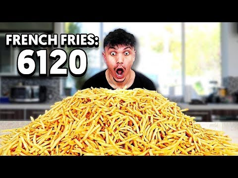 6,120 FRENCH FRY CHALLENGE - Eating McDonald's French Fries Challenge