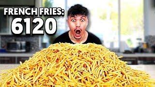 6,120 FRENCH FRY CHALLENGE - Eating McDonald