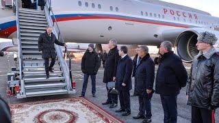 Рустам Минниханов встретил Владимира Путина в аэропорту Бегишево