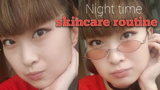 Una's night time skin care routine