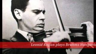 Leonid Kogan plays Brahms Hungarian Dance, no.1