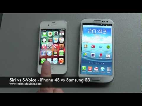 Siri vs S Voice - iPhone vs Samsung S3