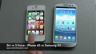 Siri vs S Voice - iPhone vs Samsung S3