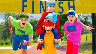 Five Kids Marathon Sport Song + more Children's Songs and Videos