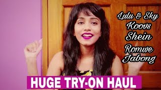Online Shopping | Try On Haul | Shein Romwe Koovs Jabong Lulu & Sky | Sumelika