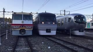 西武鉄道歴代特急車両展示 西武秩父線開通50周年記念