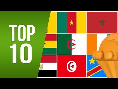 TOP 10 : Équipes Avec Le Plus de Qualifications En Coupe d'Afrique des Nations