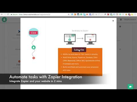 Integrate your website with Zapier