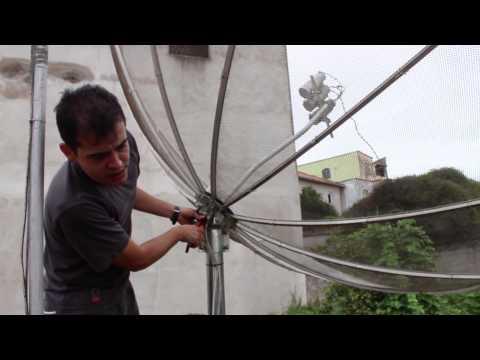 Kit Carona (C3)B4 em antena parabólica de 2,30m, p