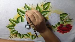 Como pintar rosas vermelhas com Lia ribeiro – parte 1