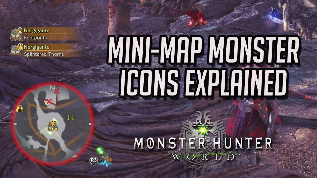Monster hunter world mini map monster icons explained youtube monster hunter world mini map monster icons explained gumiabroncs Images