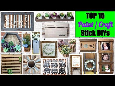 😍TOP PAINT STICK Crafts  & DOLLAR TREE DIYs | Budget Farmhouse Decor | HIGH END Look for Less