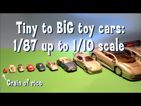 Popular Diecast Toy Scales Shown for Size Comparison Tiny to HUGE