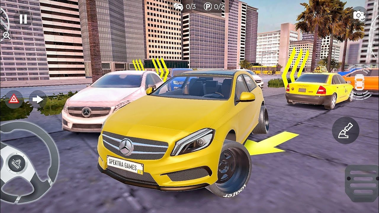 Real Car Parking Master : Completing Parking Missions - Mercedes Suv Driving Multiplayer Car Game