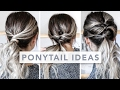 HAIR HACKS | 3 Different Ways to Wear a Ponytail