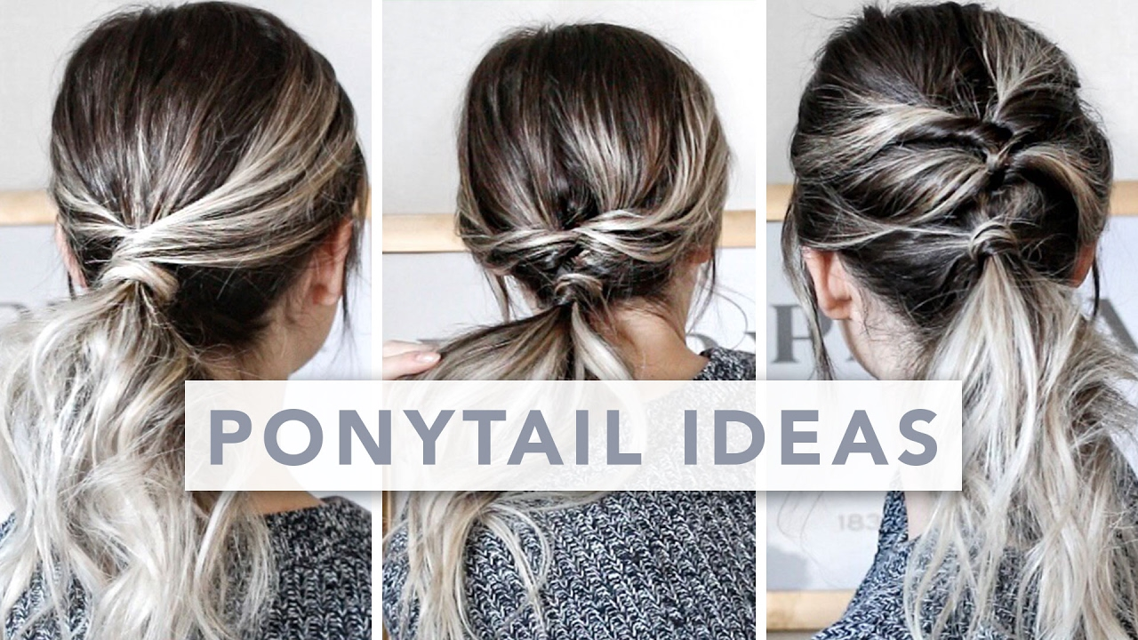 Hair Hacks 3 Different Ways To Wear A Ponytail Youtube