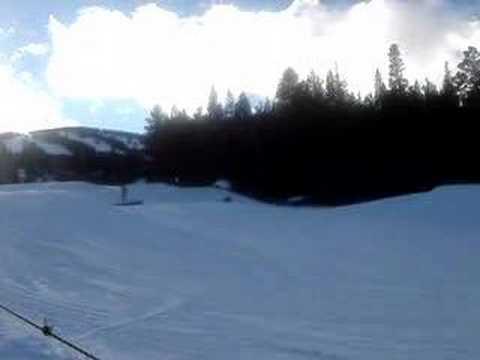 Manuel and Mark on ski jump