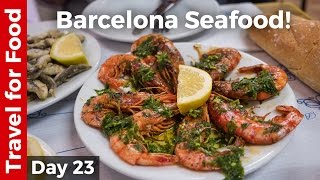 Spain Food in Barcelona - Grilled Shrimp and Sardines + FC Barcelona Camp Nou Tour!(, 2016-11-16T13:00:04.000Z)