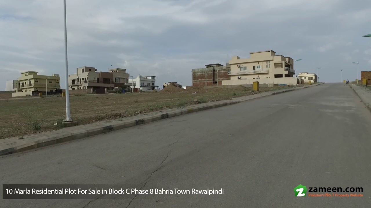 BAHRIA TOWN PHASE 8 C BLOCK RAWALPINDI - MAP POSSESSION PAID 10 MARLA PLOT  FOR SALE