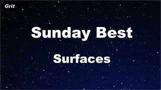 Karaoke♬ Sunday Best - Surfaces 【No Guide Melody】 Instrumental