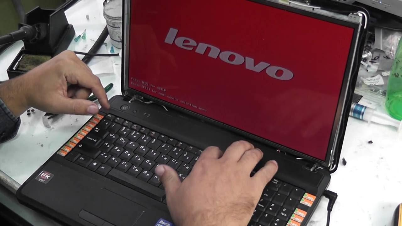 Ремонт Lenovo G555 на экране красный цвет ищем неисправность - YouTube