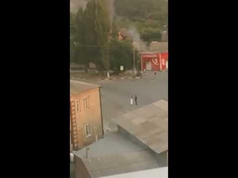 Большой пожар на Красина в Шахтах