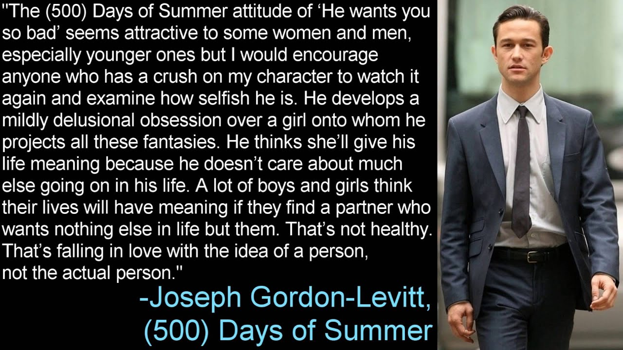 the 500 days of summer attitude joseph gordonlevitt