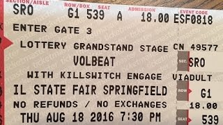 Volbeat - Let It Burn - Live HD @ Illinois State Fair, 8/18/2016