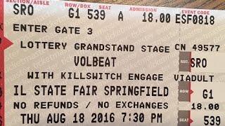 Volbeat - Let It Burn - Live HD @ Illinois State Fair, 8/18/2016