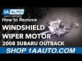 How To Replace Wiper Motor 04-09 Subaru Outback