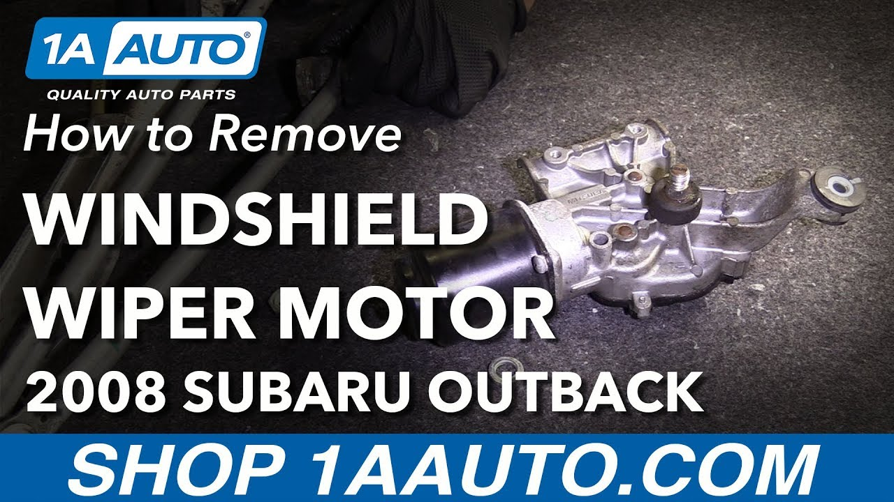 how to replace wiper motor 04 09 subaru outback youtube  how to replace wiper motor 04 09 subaru outback