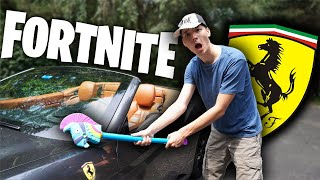 This is what happens when Fortnite Kids find a Ferrari…