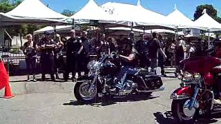 Sons Of Anarchy cast leads a charity motorcycle ride 8/26/2012