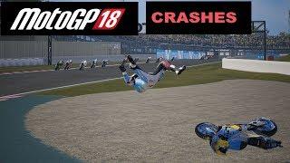 MotoGP 18 | CRASH COMPILATION #1 | TV REPLAY | PC GAME