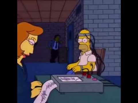 Homer Simpson Lie Detector do you under stand