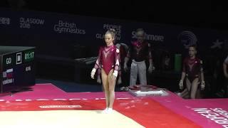 Yana Vorona / Ворона Яна (RUS) - Floor - 2018 European Championships (Junior)