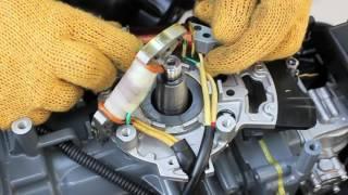 Установка генераторной катушки SUZUKI DT15A