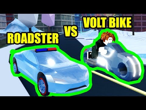 Can the ROADSTER BEAT the VOLT BIKE??? | Roblox Jailbreak