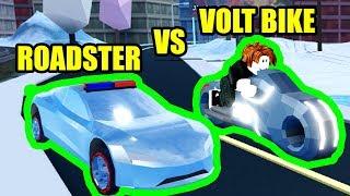 Can the ROADSTER BEAT the VOLT BIKE???   Roblox Jailbreak