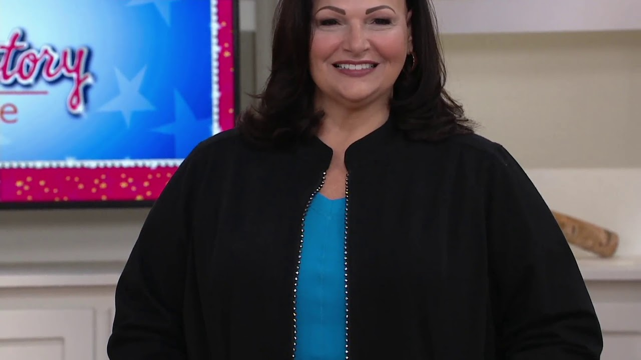 Quacker Factory Dreamjeannes Glam Zipper Front Jacket On Qvc Youtube