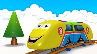 kids videos for kids - Train - Cartoon Cartoon - Trains for Kids - Toy Factory - jcb - Choo Train