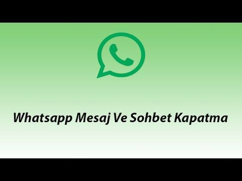 Whatsapp bildirimleri nasıl kapatılır?
