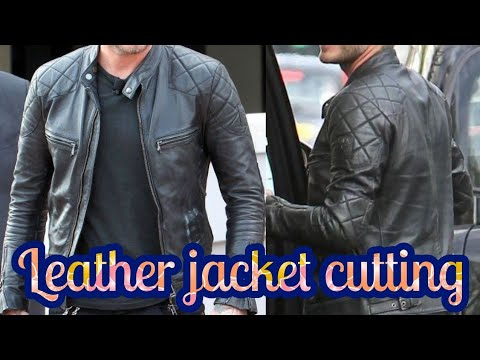 Leather jacket cutting with formula