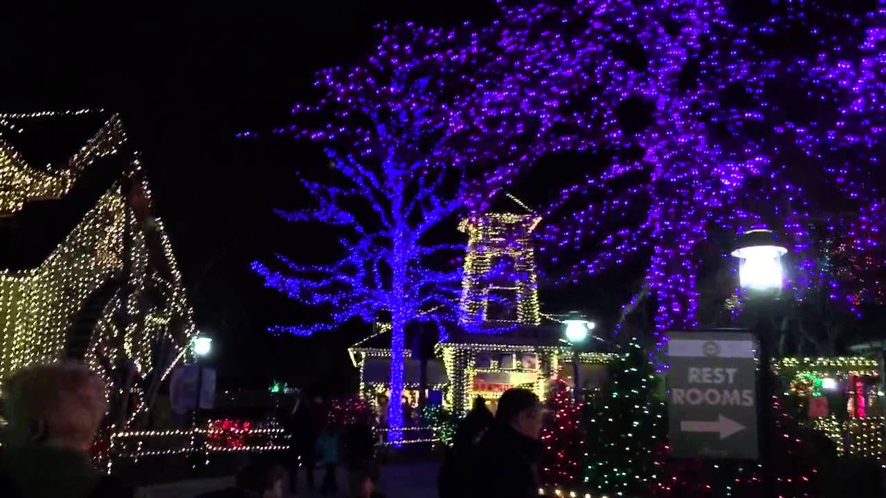 Christmas Lights at Stone Mountain Park 1/1/2015 - YouTube