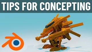 Tips for Concepting in Blender 2.8
