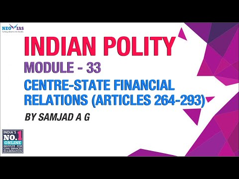 101st Constitutional Amendment Act, 2016 (GST) | Centre - State Financial Relations | Indian Polity