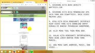 Download Cara Mendownlaod Music dan Video di Waptrick Menggunakan PC